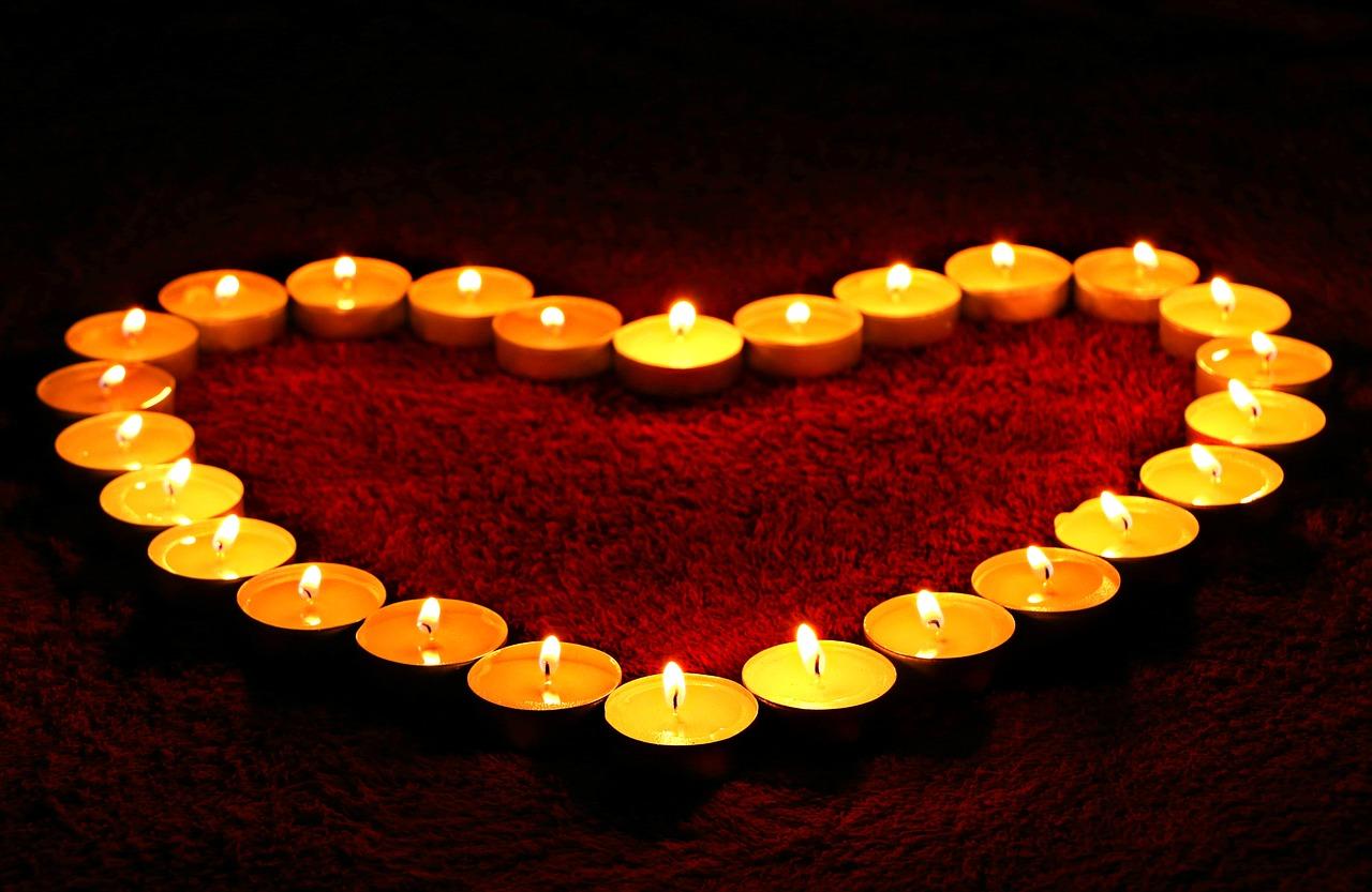 serce z świec